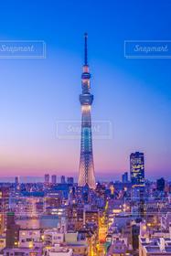 夜景,東京,夕焼け,スカイツリー