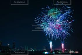 空,夏,夜景,花火,日本,祭,淀川