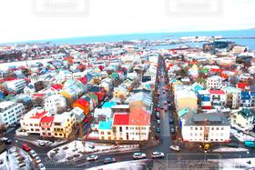 風景,建物,冬,街並み,海外,世界の絶景,カラフル,北欧,アイスランド,レイキャビーク