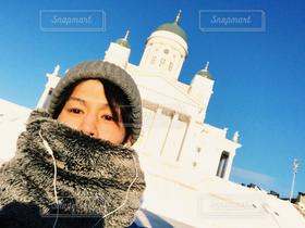 男性,1人,建物,自撮り,世界の絶景,セルフィー,北欧,フィンランド