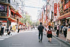 風景,道路,街,横浜,町,食べ歩き,通行人