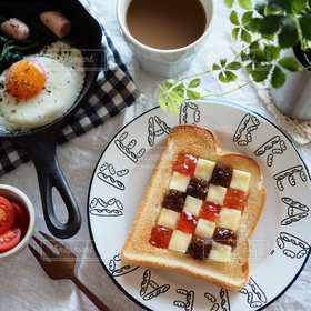 食べ物,食事,朝食,パン,トースト,朝ごはん,breakfast,テーブルフォト
