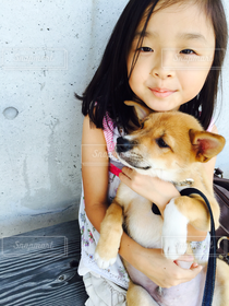 子ども,1人,犬,女の子,ペット,人物,小学生,愛犬