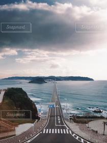 風景,海,空,波,道路