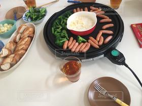 食べ物,秋,冬,パン,野菜,チーズ,鍋,ホームパーティ,チーズフォンデュ