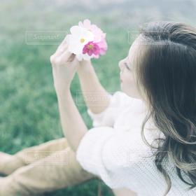 女性,花束,きれい,人物