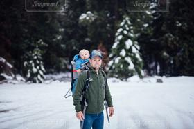 男性,家族,風景,アウトドア,冬,雪,親子