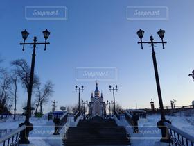 空,公園,建物,冬,世界の絶景,朝日,城,キャッスル,ロシア
