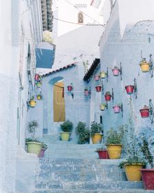 風景,階段,カラフル,植木鉢,路地
