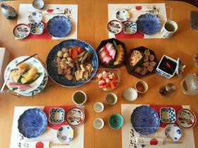 正月,おせち料理,テーブルコーディネート,テーブルフォト