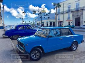 空,乗り物,青,街,キューバ,クラシックカー