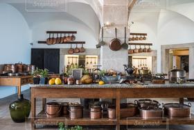 キッチン,茶色,世界遺産,鍋,ポルトガル,宮殿,王宮,シントラ,ペーニャ,料理道具