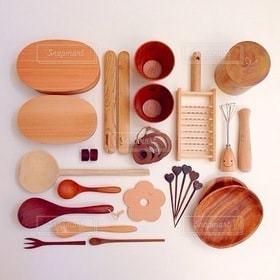 キッチン,木,フォーク,スプーン,皿,食器,しゃもじ,弁当,ウッド,キッチン用品,キッチングッズ
