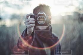 男性,1人,カメラ,撮影,人物
