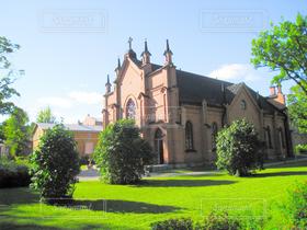 空,芝生,海外,緑,雲,晴れ,青空,晴天,茶色,ヨーロッパ,観光,旅行,北欧,快晴,海外旅行,建築,フィンランド,タンペレ