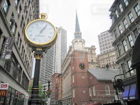 街並み,ビル,時計,アメリカ,街,高層ビル,オフィス街,ビジネス,摩天楼,ボストン,ビジネス街