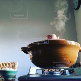 冬,鍋,湯気,暖まる,朝鍋