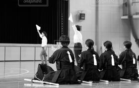 女性,学生,スポーツ,モノクロ,女子,試合,女子高生,武道,剣道