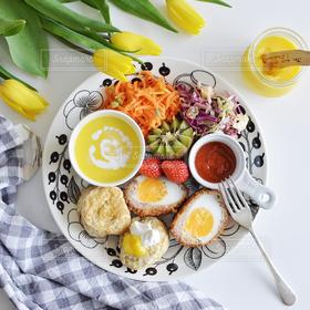 食べ物,花,ランチ,パン,テーブルフォト