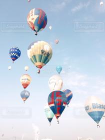 風景,空,秋,冬,気球,バルーン