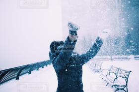 女性,1人,自然,風景,アウトドア,冬,雪