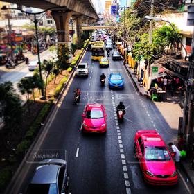 海外,カラフル,車,街,旅行,旅,タクシー,タイ,バンコク,観光スポット
