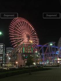 乗り物,夜景,観覧車,横浜