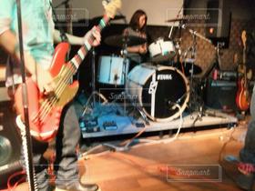 2人,ギター,楽器,バンド,ドラム,学園祭