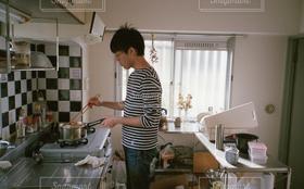 男性,恋人,1人,30代,キッチン,部屋