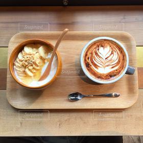 カフェ,コーヒー,朝食,ヨーグルト